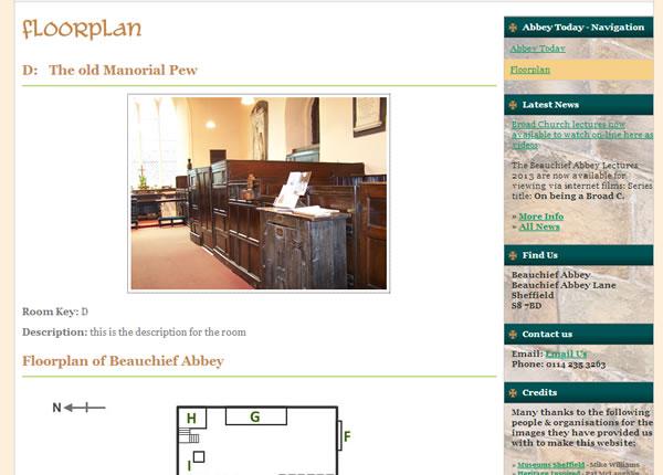 Floorplan Beauchief Abbey