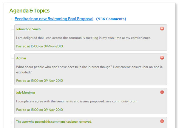 Electronic Discussion Forum