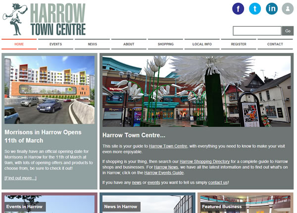 Harrow Town Centre Homepage