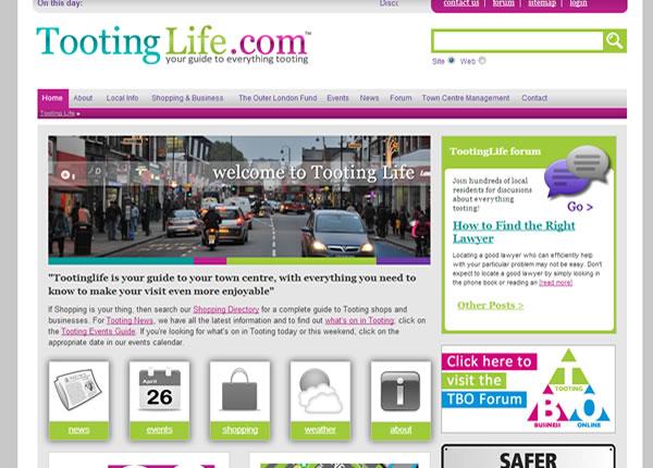 Tooting Life Homepage